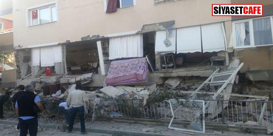 İşte 6.8'lik depremle sarsılan İzmir'den ilk görüntüler