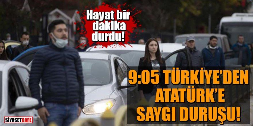 Hayat bir dakika durdu! 9:05 Türkiye'den Atatürk'e saygı duruş