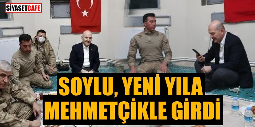 Bakan Soylu, yeni yıla Mehmetçikle girdi!