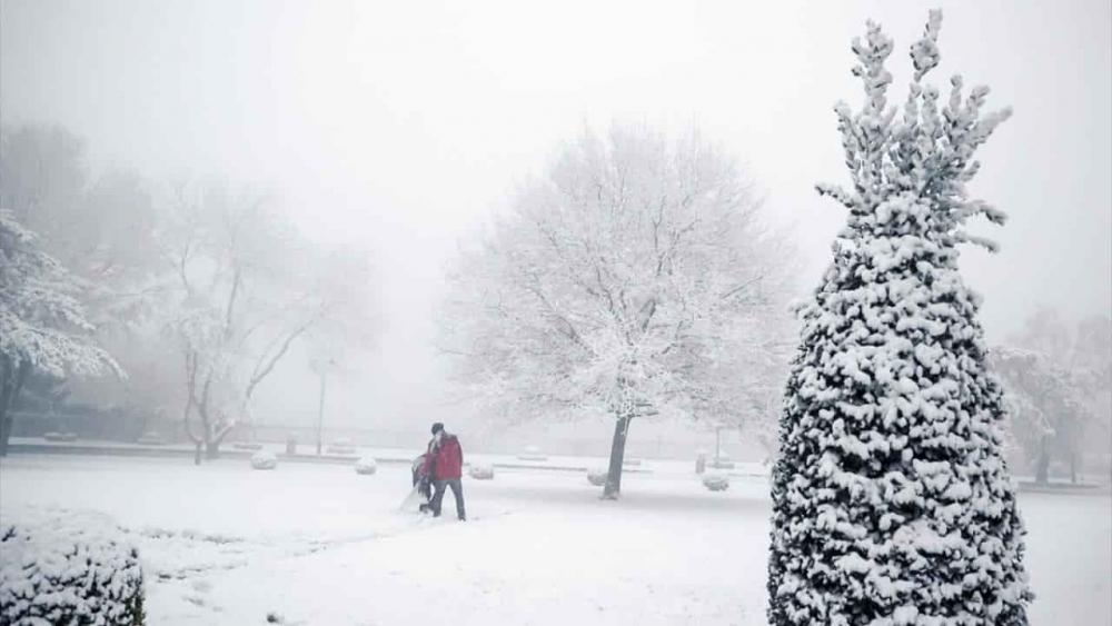 Yılın ilk kar yağışından güzel manzaralar 5