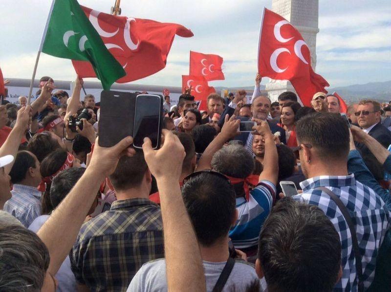 MHP İzmir'de alanlara sığmadı - Foto Haber 7