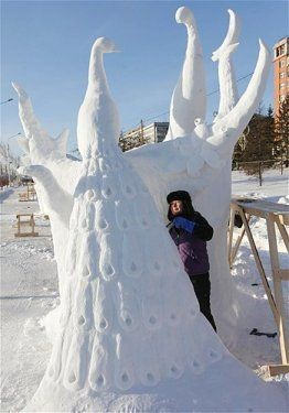 Göz alıcı kar heykeller 2