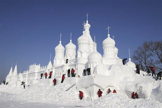 Göz alıcı kar heykeller 4