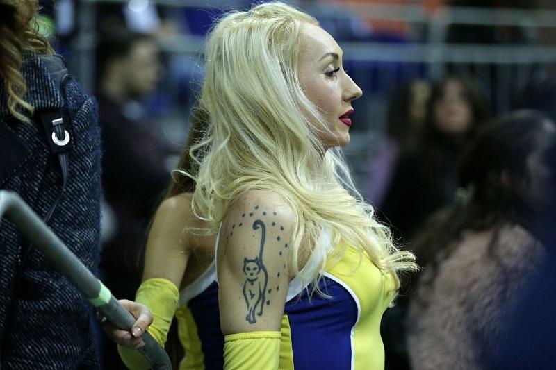 Fenerbahçe maçına damga vuran dans gösterisi 6