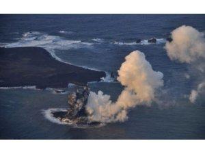 Volkanik ada dakikalar içinde yok oldu