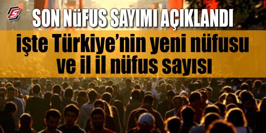 Türkiye'nin son nüfus sayımı! İşte İl İl nüfus sayısı