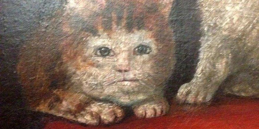 Ortaçağ ressamlarından korkutucu kedi figürleri