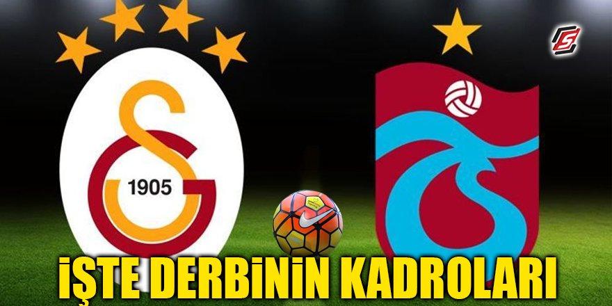 İşte Galatasaray – Trabzonspor maçının kadroları