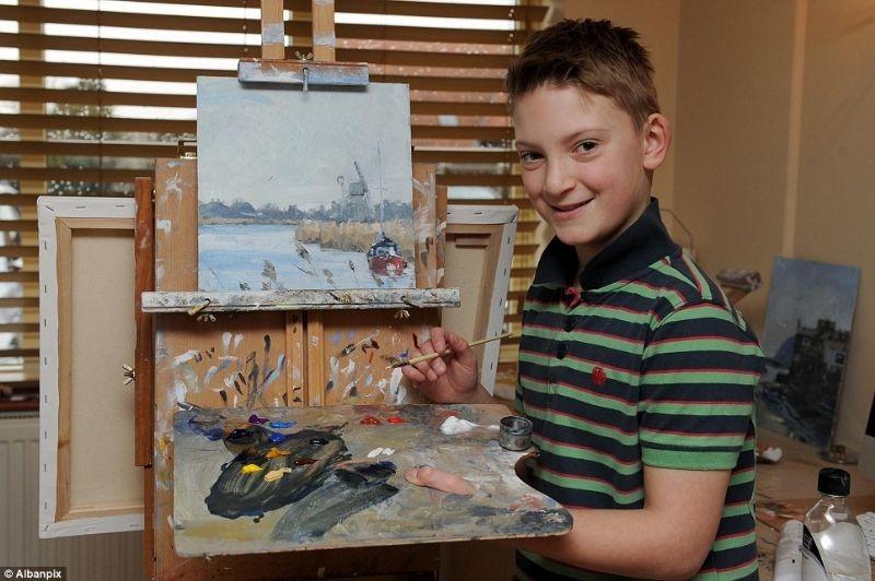 11 Yaşında 3 Milyon dolarlık tablo sattı 9