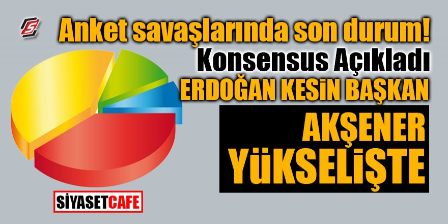 Konsensus'tan Flaş son anket: Akşener yükselişte, Erdoğan kesin baş
