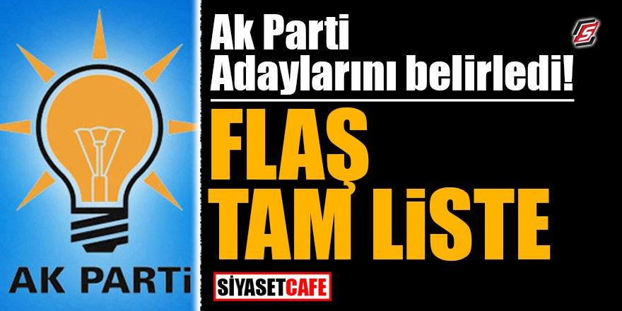 AK Parti adaylarını belirledi! FLAŞ TAM LİSTE