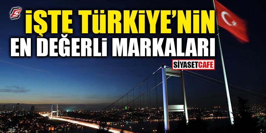 İşte Türkiye'nin en değerli markaları 1