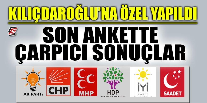 Kılıçdaroğlu'na özel yapıldı! Son ankette çarpıcı sonuçlar