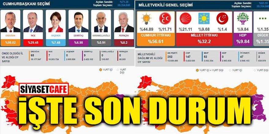 Türkiye'nin seçiminden an be an sonuçlar!