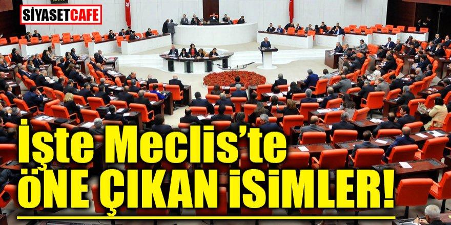 İşte Meclis'te öne çıkan isimler