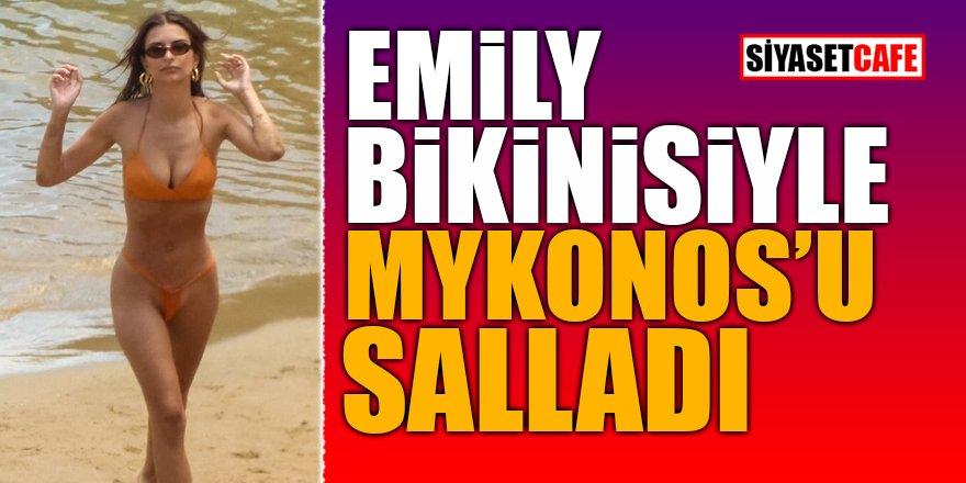Emily bikinisiyle Mykonos'u salladı