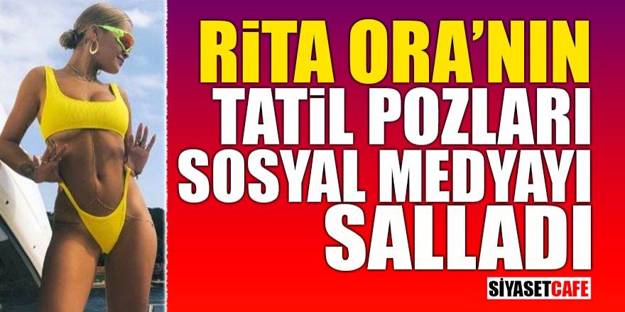 Rita Ora'nın tatil pozları sosyal medyayı salladı