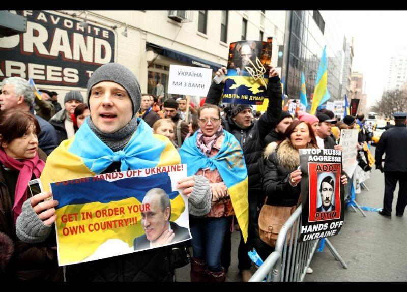Kırım Türkleri ABD'de Rusya'yı Protesto etti 11