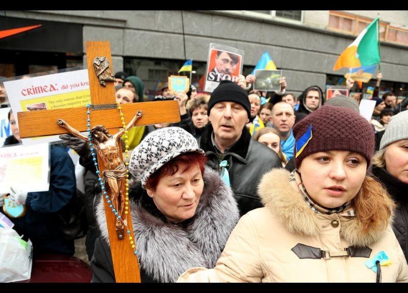 Kırım Türkleri ABD'de Rusya'yı Protesto etti 12