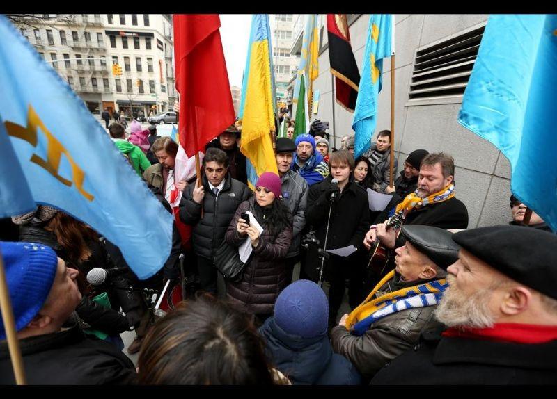 Kırım Türkleri ABD'de Rusya'yı Protesto etti 13