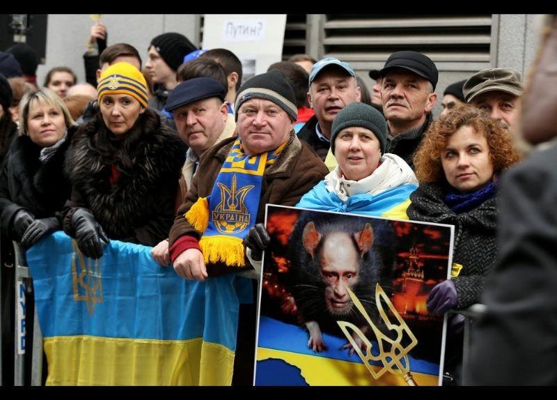 Kırım Türkleri ABD'de Rusya'yı Protesto etti 14