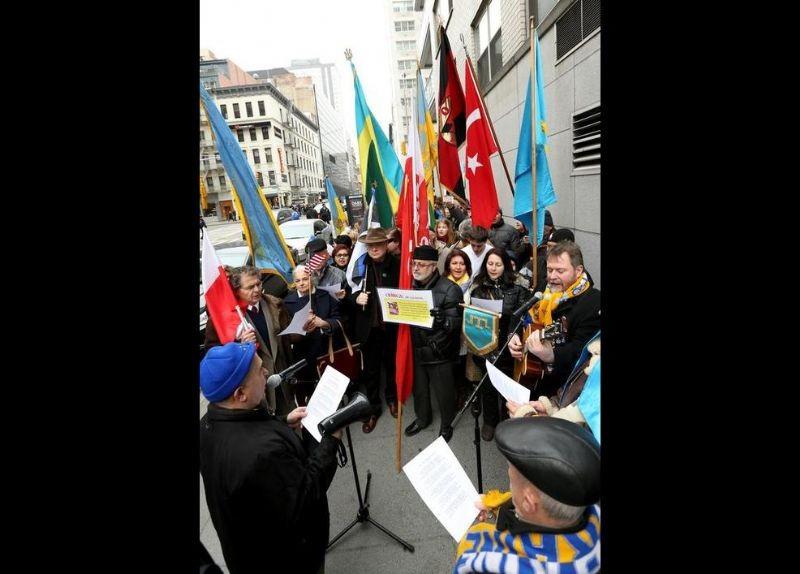 Kırım Türkleri ABD'de Rusya'yı Protesto etti 15
