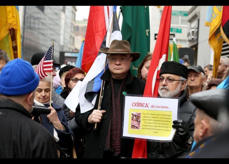 Kırım Türkleri ABD'de Rusya'yı Protesto etti 17