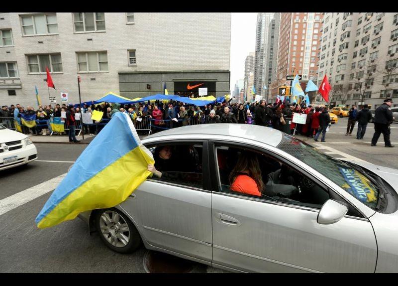 Kırım Türkleri ABD'de Rusya'yı Protesto etti 18