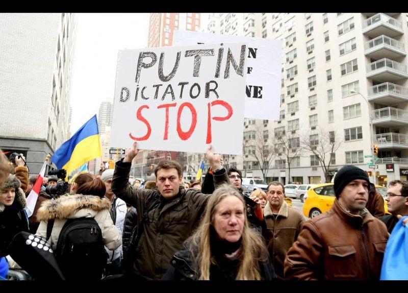 Kırım Türkleri ABD'de Rusya'yı Protesto etti 19
