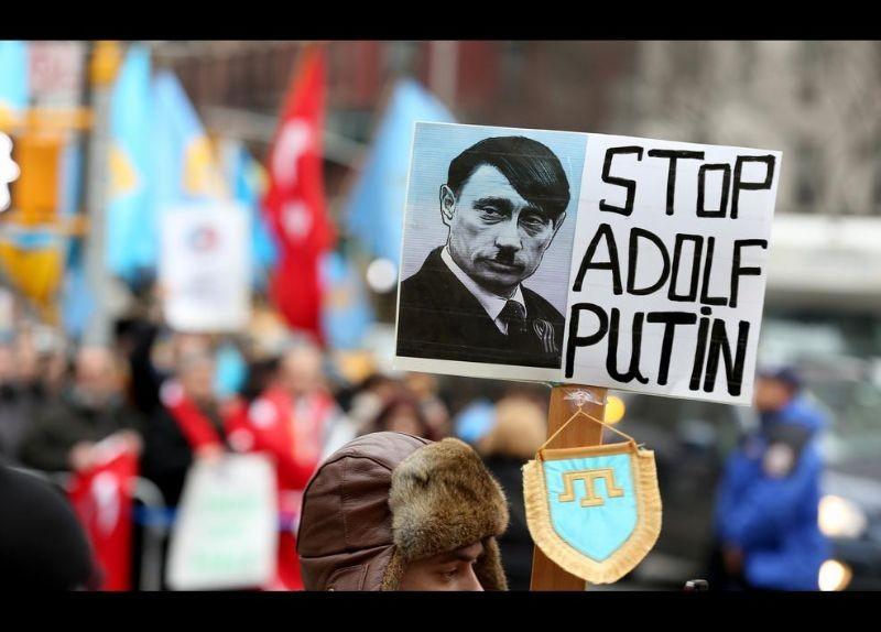 Kırım Türkleri ABD'de Rusya'yı Protesto etti 20