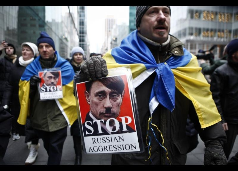 Kırım Türkleri ABD'de Rusya'yı Protesto etti 3
