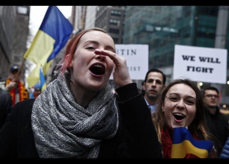 Kırım Türkleri ABD'de Rusya'yı Protesto etti 4