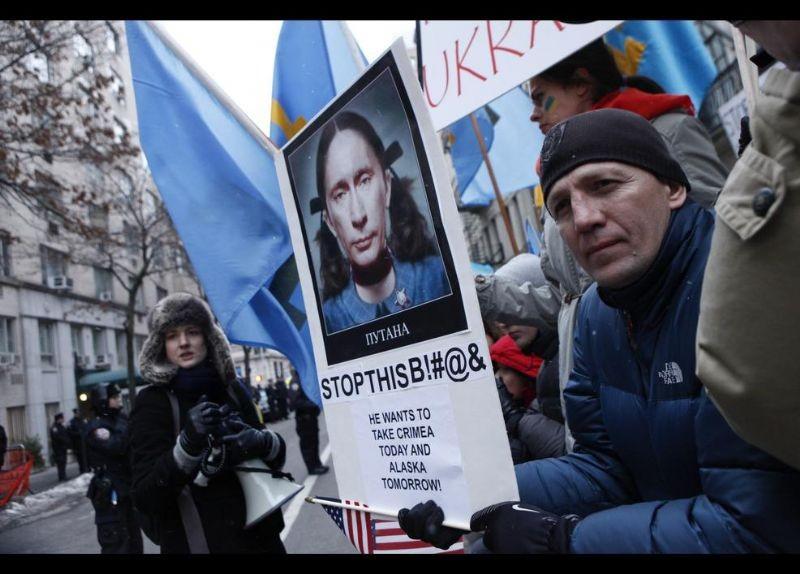 Kırım Türkleri ABD'de Rusya'yı Protesto etti 5