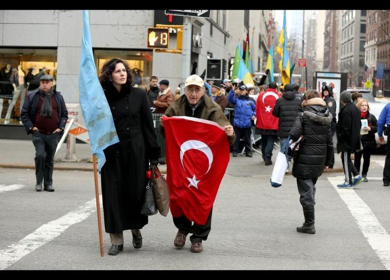 Kırım Türkleri ABD'de Rusya'yı Protesto etti 7
