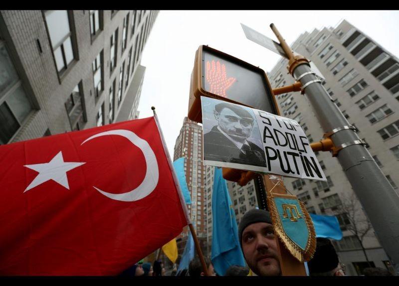 Kırım Türkleri ABD'de Rusya'yı Protesto etti 8