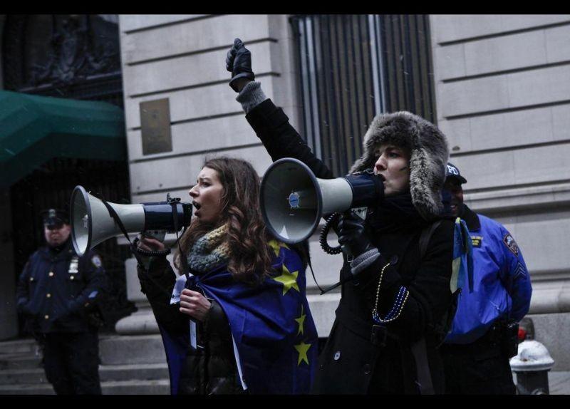 Kırım Türkleri ABD'de Rusya'yı Protesto etti 9