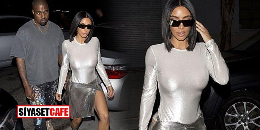 Kim Kardashian cesur kıyafetiyle yürek hoplattı