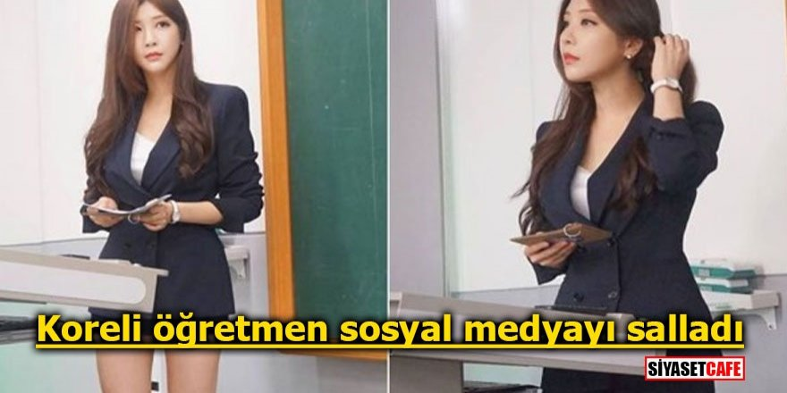 Koreli kadın öğretmen sosyal medyayı salladı