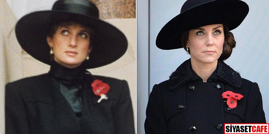 Lady Diana ve Kate Middleton'un stil benzerliği 1
