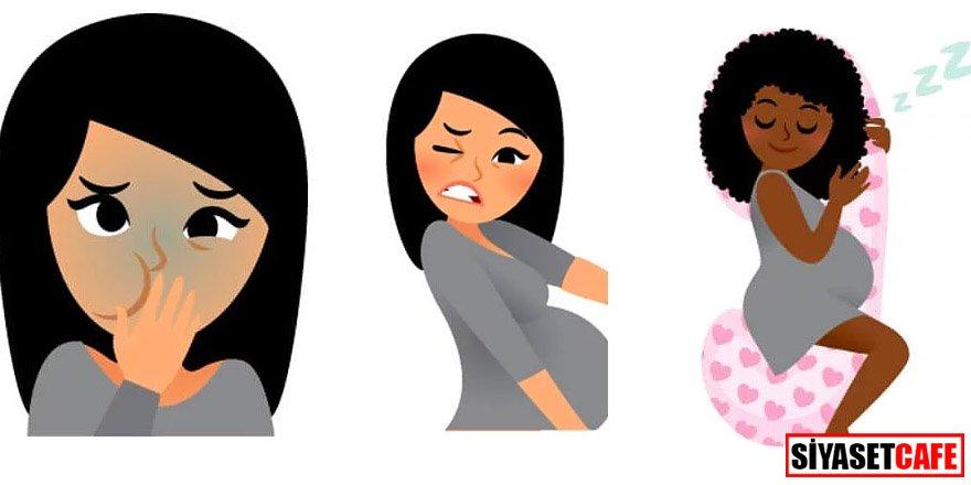 Doğumu bekleyen annelerin neler yaşadığını anlatan emojiler