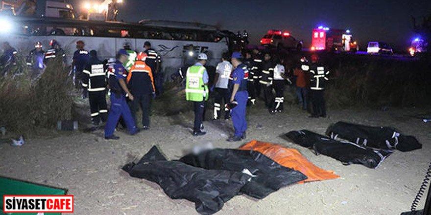 Aksaray'da yolcu otobüsü devrildi: Çok sayıda ölü var