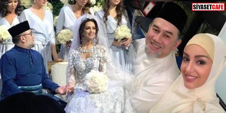 Taçlı Rus güzel Malezya Kralı ile evlendi! Müslüman oldu