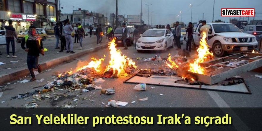 Sarı Yelekliler protestosu Irak'a sıçradı