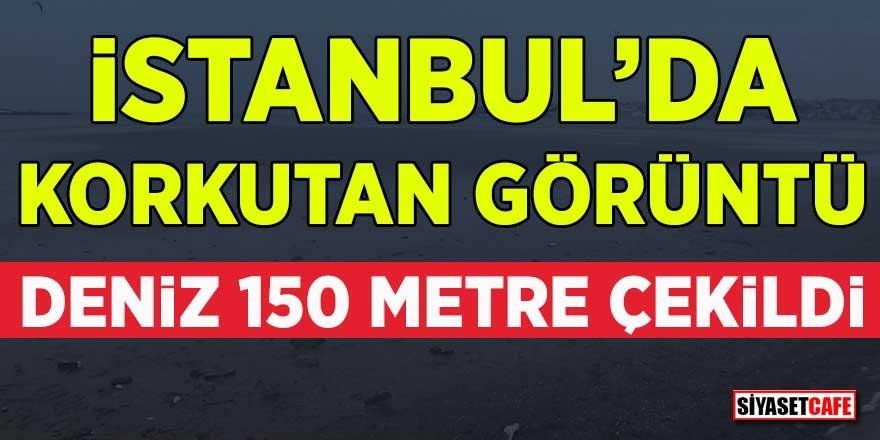 Korkutan görüntü! İstanbul'da deniz 150 metre çekildi