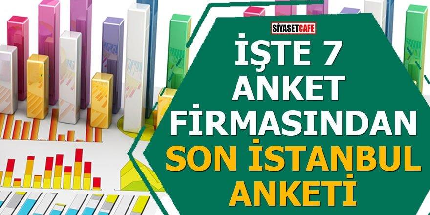 İşte 7 farklı anket firmasından son İstanbul anketi