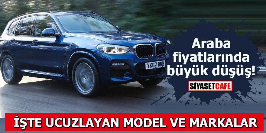 Araba fiyatlarında büyük düşüş İşte ucuzlayan model ve markalar