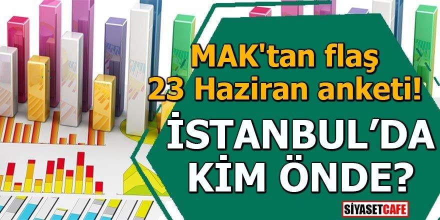 MAK'tan flaş 23 Haziran anketi! İstanbul'da kim önde?