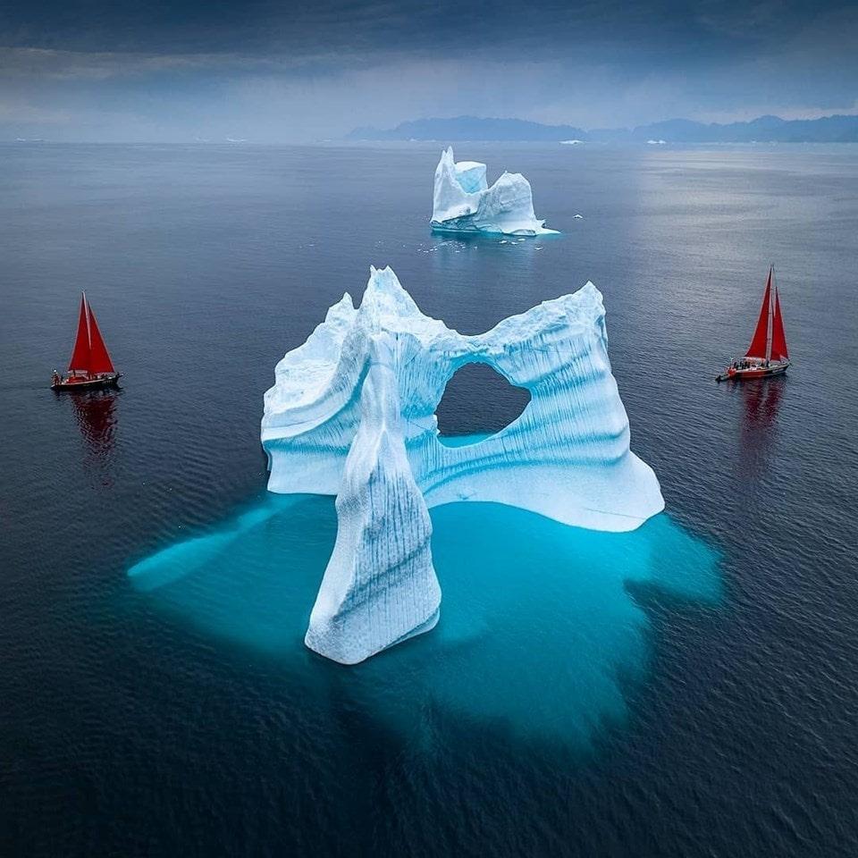 Küresel ısınma yüzünden her gün eriyen Grönland'dan manzaralar 1