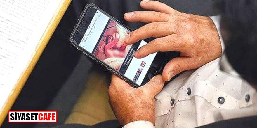 Mecliste skandal görüntü! Çıplak kadın fotoğrafına bakarken yakalandı
