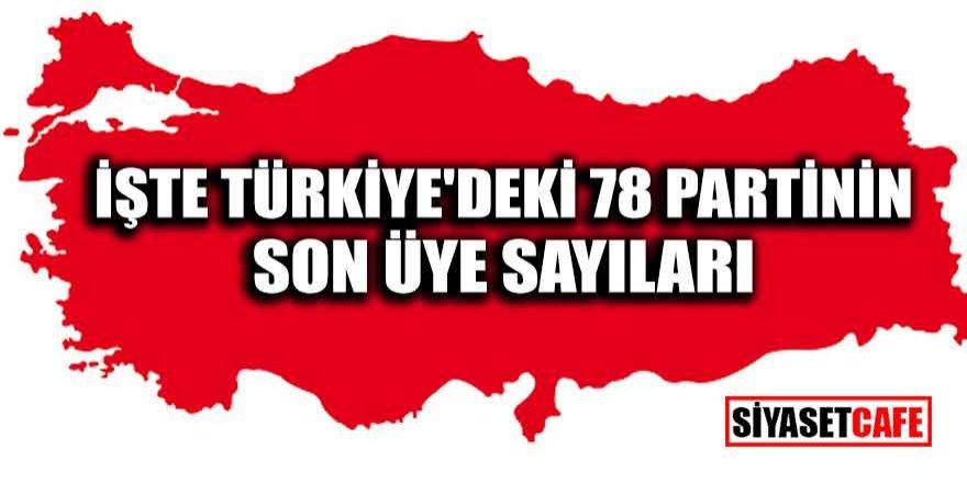 İşte Türkiye'deki 78 partinin son üye sayıları